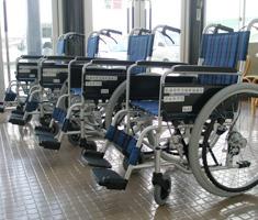 プルタブ換金で購入した車椅子